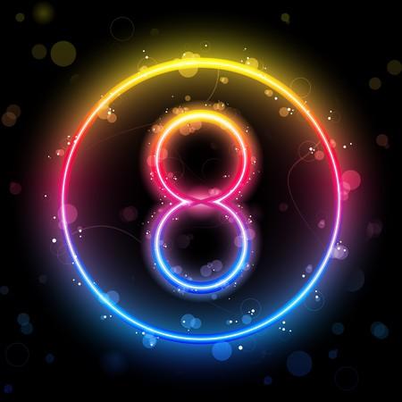 Numeri luci Rainbow Glitter con scintillii