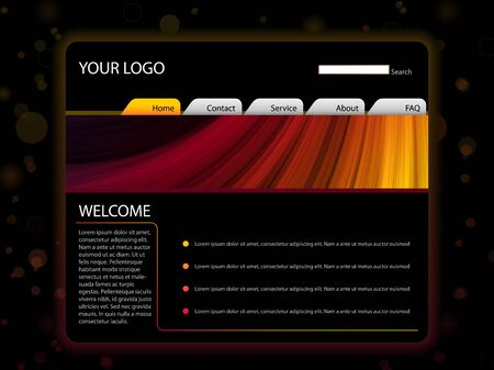 Website Layout Template in Red and Yellow Colors Stock Vector - 7806719