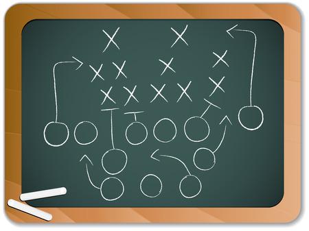 Teamwork voet bal spel Plan strategie op Blackboard
