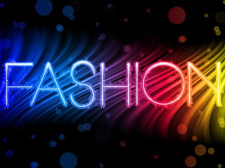 catwalk model: Moda astratta onde colorate su sfondo nero