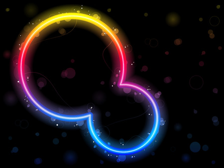 Rainbow Circle Border with Sparkles and Swirls. Stock Vector - 7881703