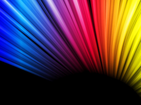 Abstract Colorful Waves on Black Background Vector