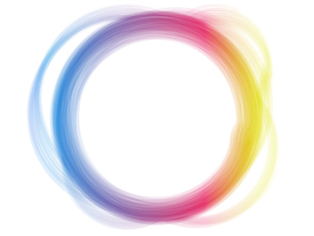 Rainbow Circle Border Brush Effect. Vector