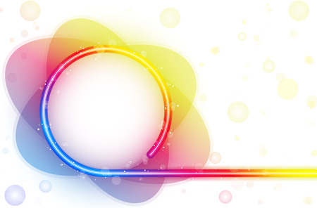Rainbow Circle Border with Sparkles and Swirls. Stock Vector - 7936745