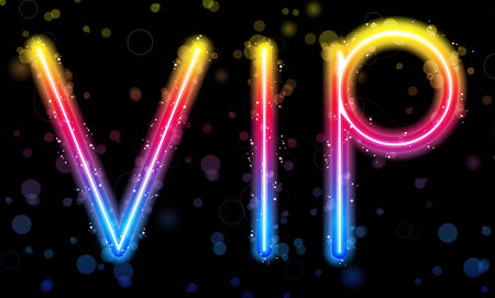 VIP Very Important People Party Rainbow Lights  Glitter with Sparkles Illustration