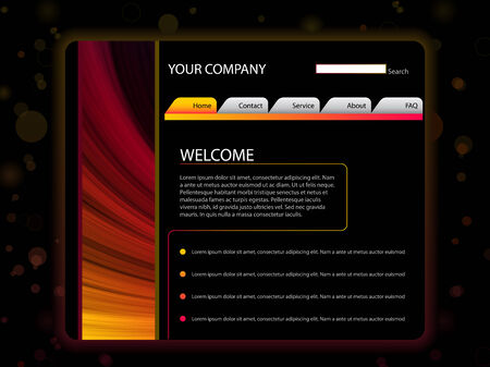 Website Layout Template in Red and Yellow Colors Stock Vector - 7936742