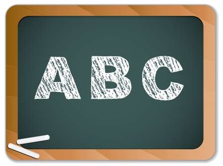 Chalk Alphabet on Blackboard Stock Vector - 8147377
