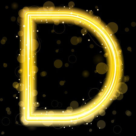 Alphabet Golden Letters with Glitter and Sparkles Vector