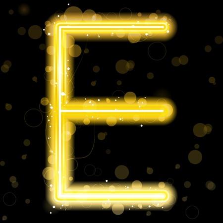 Alfabeto oro cartas con escarcha y Sparkles Ilustración de vector