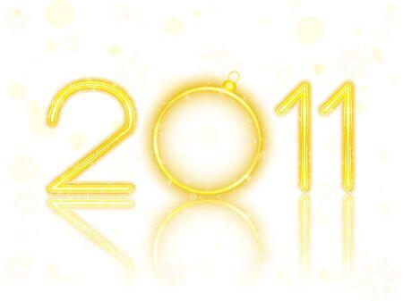 Golden Neon with Christmas Ball Stock Vector - 8370757