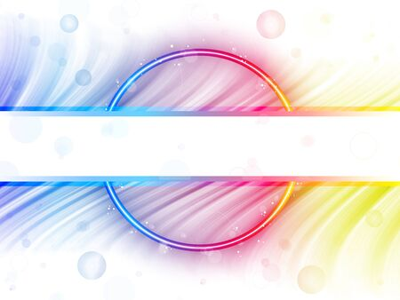 Rainbow Circle Border with Sparkles and Swirls. Stock Vector - 8370751