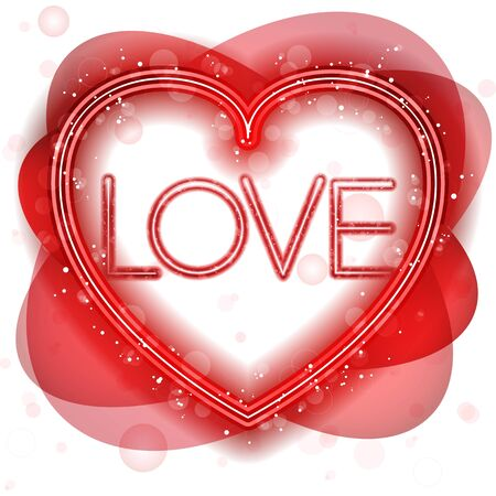 Vector - Happy Valentines Day Neon Heart Vector