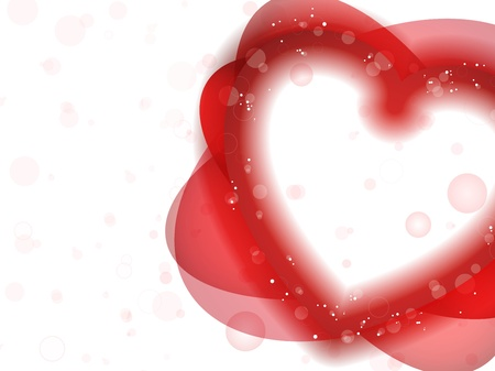 Vector - Happy Valentine's Day Neon Heart Stock Vector - 8617759
