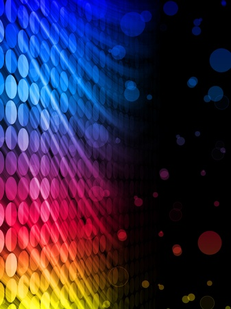 transparency color:   Disco Abstract Colorful Waves on Black Background