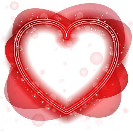 Vector - corazón feliz día de San Valentín de neón Ilustración de vector