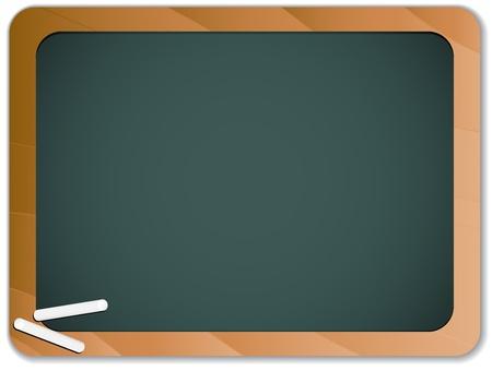 educativo:  Verde pizarra de tiza, con madera de frontera Vectores