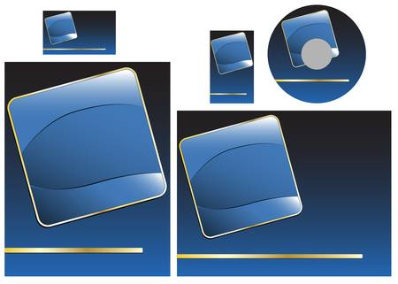 Template for business card, letter and cd. Add your logo and text Vector
