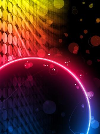 Vector - cuadro de círculo de resumen de la discoteca sobre fondo negro