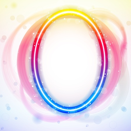 Vector - Number Rainbow Lights in Circle White Background Vector