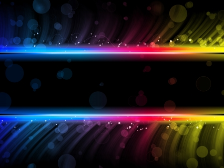 Disco Abstract Colorful Waves on Black Background photo