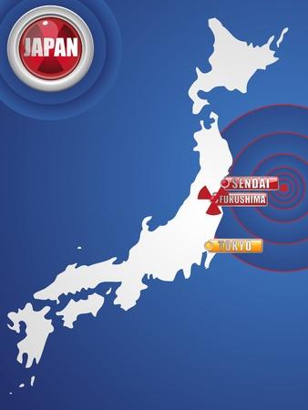 Japan Earthquake and Tsunami Disaster 2011 Vector