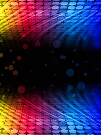 disco background: Disco Abstract Colorful Waves on Black Background