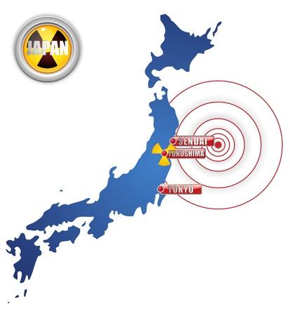 Japan Earthquake, Tsunami and Nuclear Disaster 2011 Stock Vector - 9227937