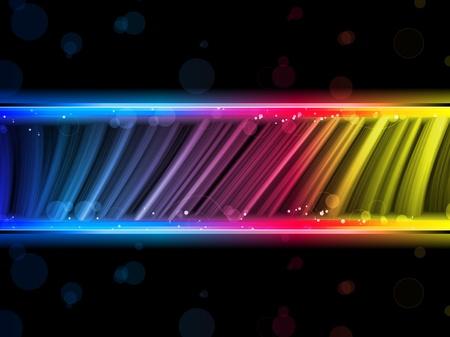 fond fluo: Vecteur - Disco abstraite vagues color�es sur fond noir