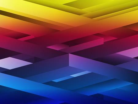 Vector - Rainbow abstract geometric lines background. Vector