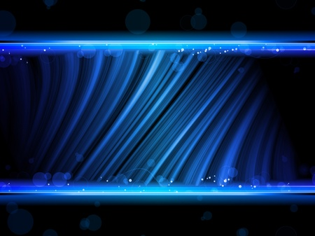 neon letter: Vector - Disco Abstract Blue Waves on Black Background Illustration