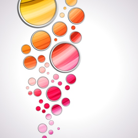 Vector - Abstract Colorful Circles Background Illustration