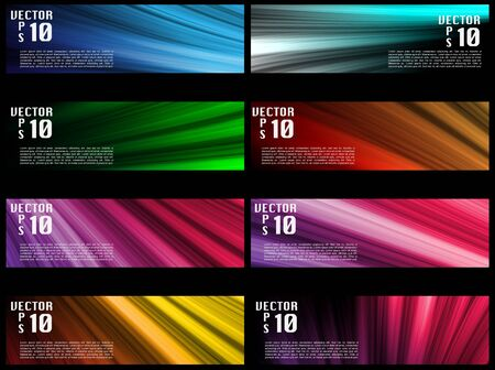 Vectors - Colorful Web Banners Backgrounds Vector
