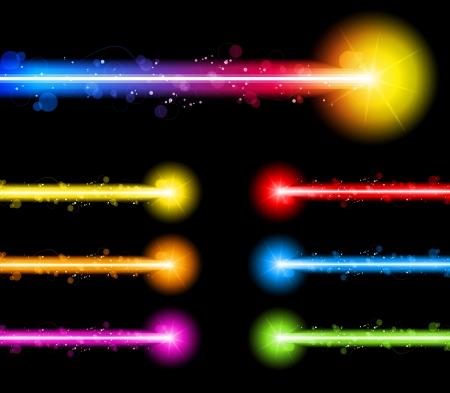 raggi di luce: Vector - Neon Laser luci colorate Vettoriali