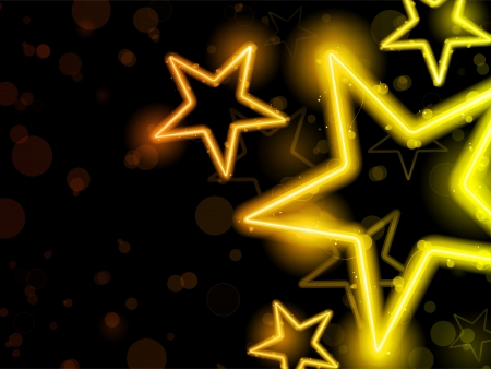 stars: Vector - Glowing Neon Stars Background Illustration