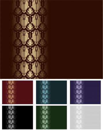 Vector - Set of Seamless Wallpaper Stripes Stock Vector - 9567415