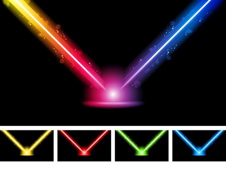 night bar: Vector - l�ser ne�n luces de colores Vectores