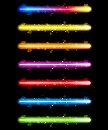 rainbow color star: Vector - Laser Neon Colorful Lights Illustration