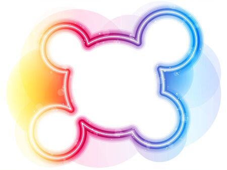 Vector - Rainbow Circle Border with Sparkles and Swirls. Stock Vector - 9720037