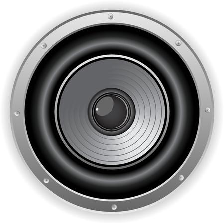 Vector - Round Isolated Sound Speaker Stock Vector - 9721888