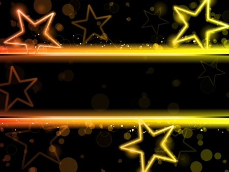 Glowing Neon Stars Background Stock Vector - 9817530