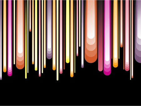Vector -  Striped Background on Black Stock Vector - 9883460