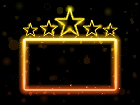 Vector - Star Neon Movie Sign With Copyspace Vector