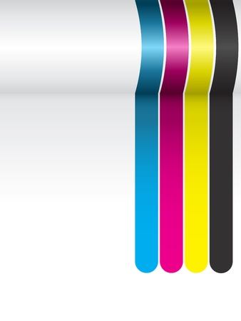 Vector - CMYK Colorful Stripes Background Vector