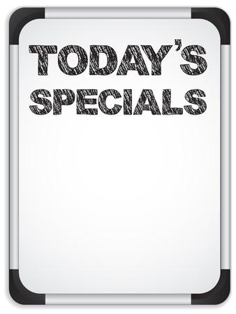 whiteboard: Vector - Whiteboard met vandaag