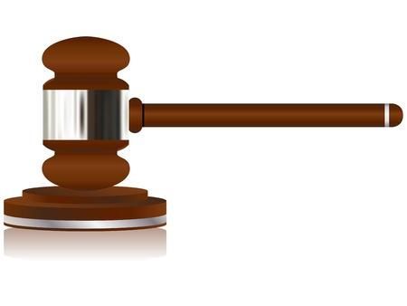 Wooden Justice Gavel Stock Vector - 10367132