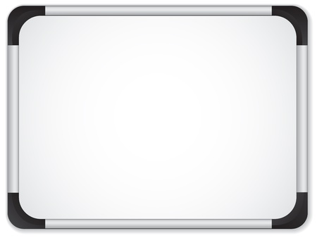 Whiteboard Metal Border. Insert your message Vector