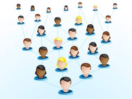 crowdsourcing: Vector - Crowdsourcing Network Icons