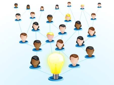 Vector - Creativity Network Crowdsourcing Stock Vector - 10693667