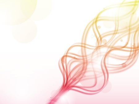 red smoke: Abstract colorful red and yellow flames lines. Illustration