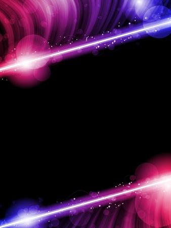 night bar: Disco Resumen ondas de colores sobre fondo Negro Vectores